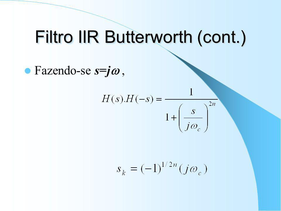 Filtro IIR Butterworth (cont.)