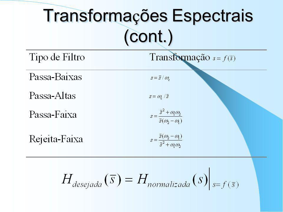 Transformações Espectrais (cont.)