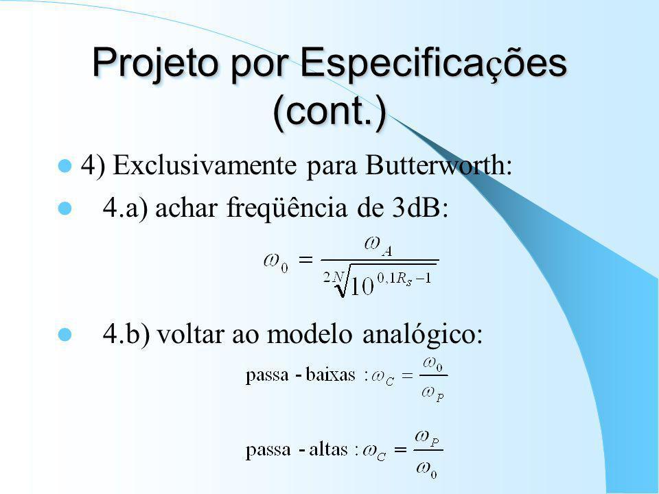 Projeto por Especificações (cont.)