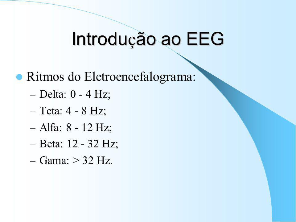 Introdução ao EEG Ritmos do Eletroencefalograma: Delta: 0 - 4 Hz;