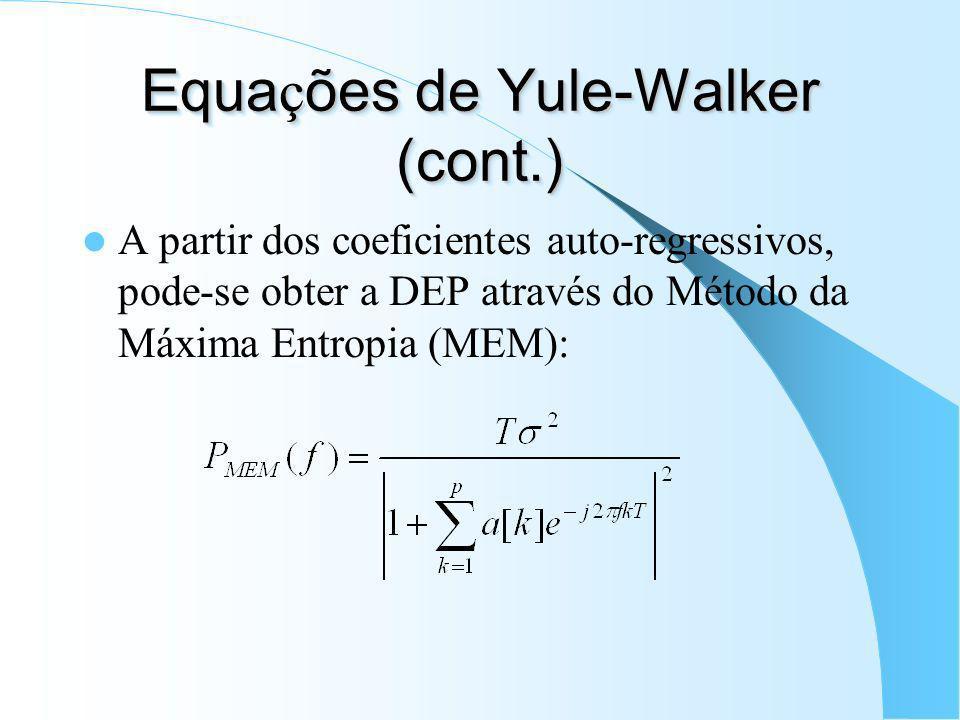 Equações de Yule-Walker (cont.)