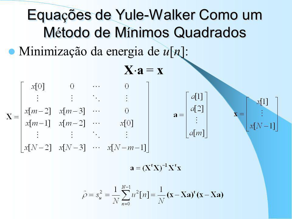 Equações de Yule-Walker Como um Método de Mínimos Quadrados