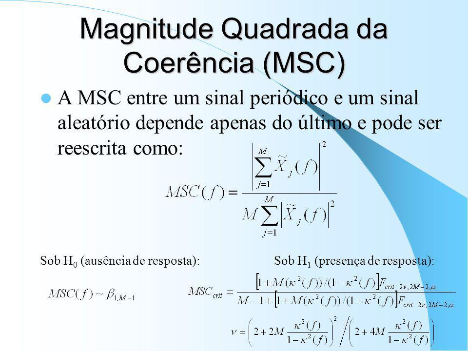 Magnitude Quadrada da Coerência (MSC)