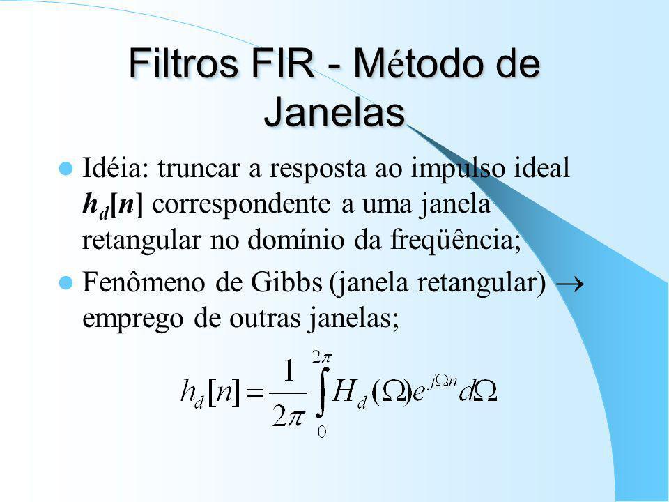 Filtros FIR - Método de Janelas