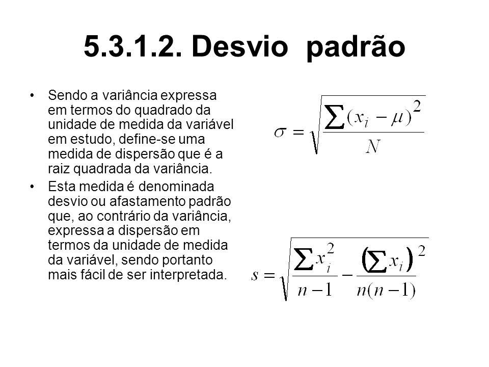 5.3.1.2. Desvio padrão
