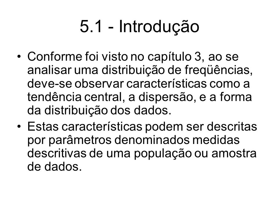 5.1 - Introdução