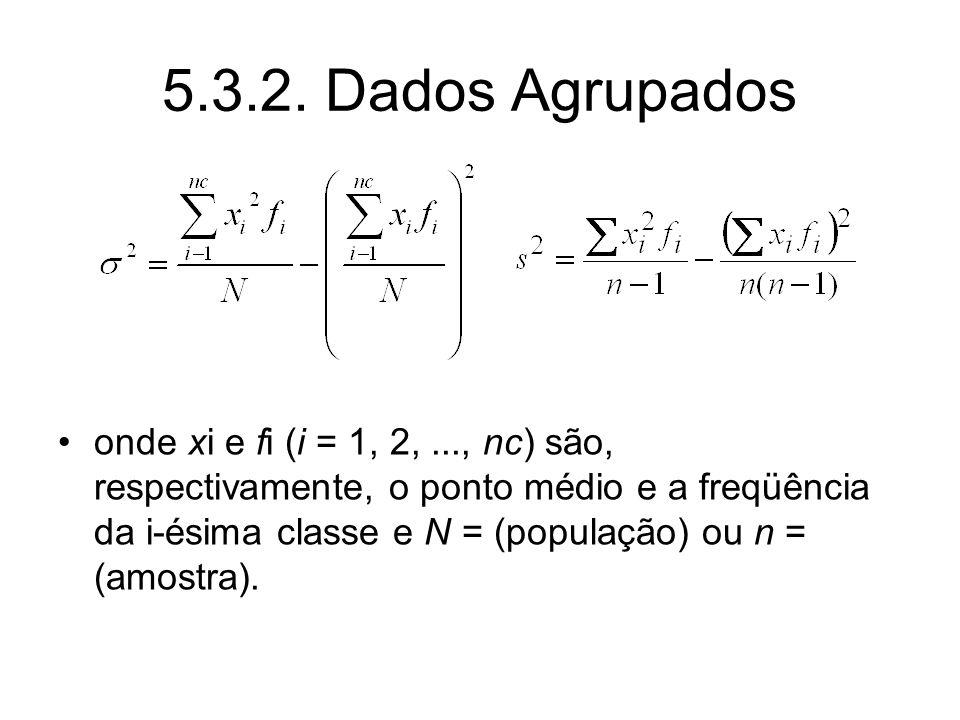 5.3.2. Dados Agrupados