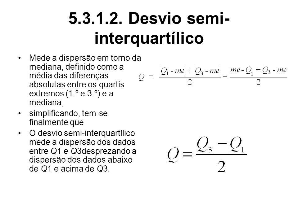 5.3.1.2. Desvio semi-interquartílico