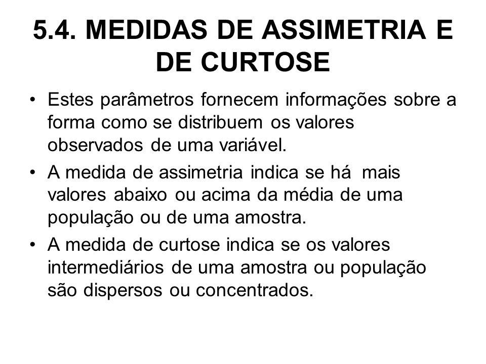 5.4. MEDIDAS DE ASSIMETRIA E DE CURTOSE