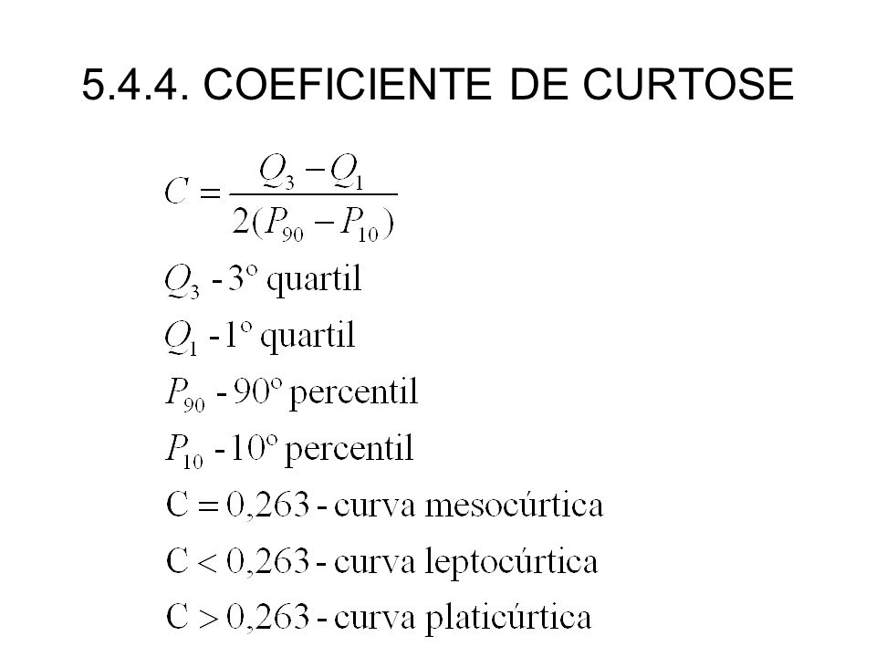 5.4.4. COEFICIENTE DE CURTOSE