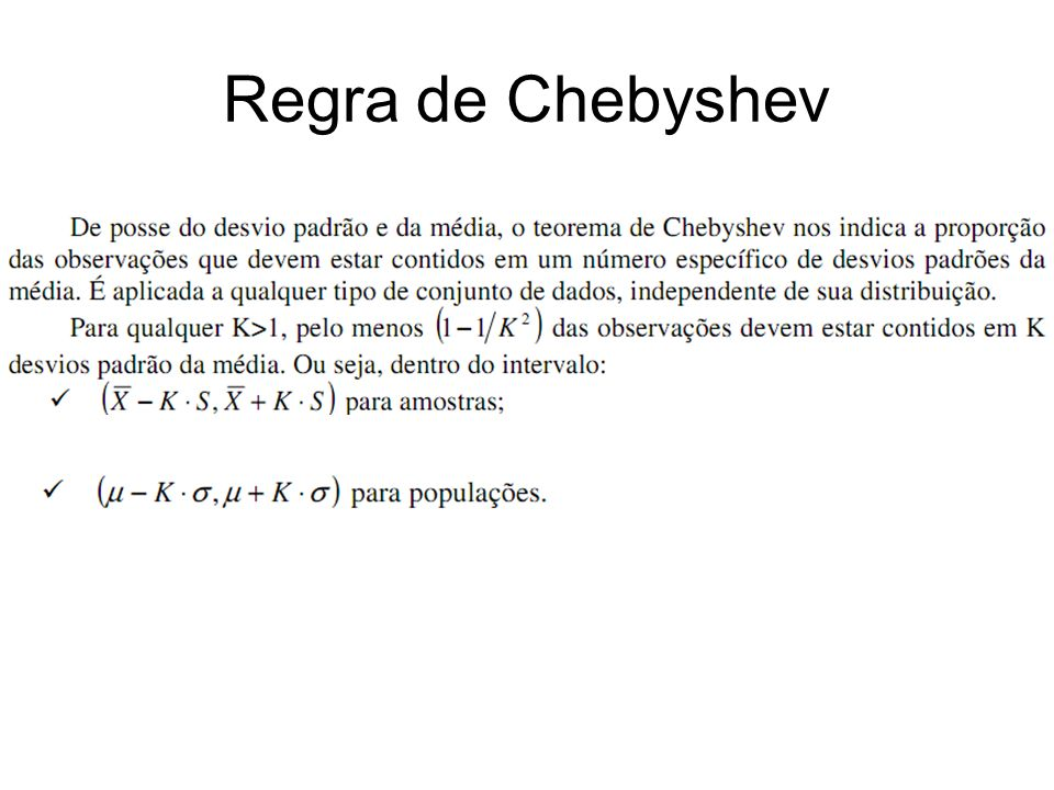 Regra de Chebyshev