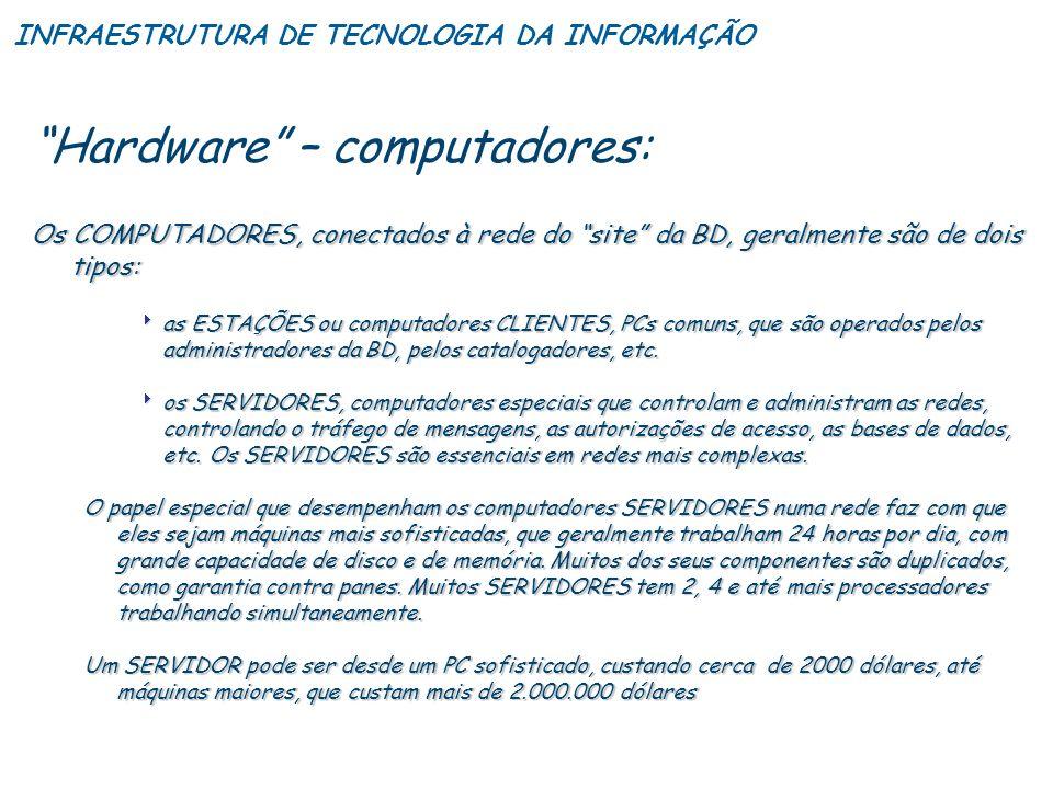 Hardware – computadores: