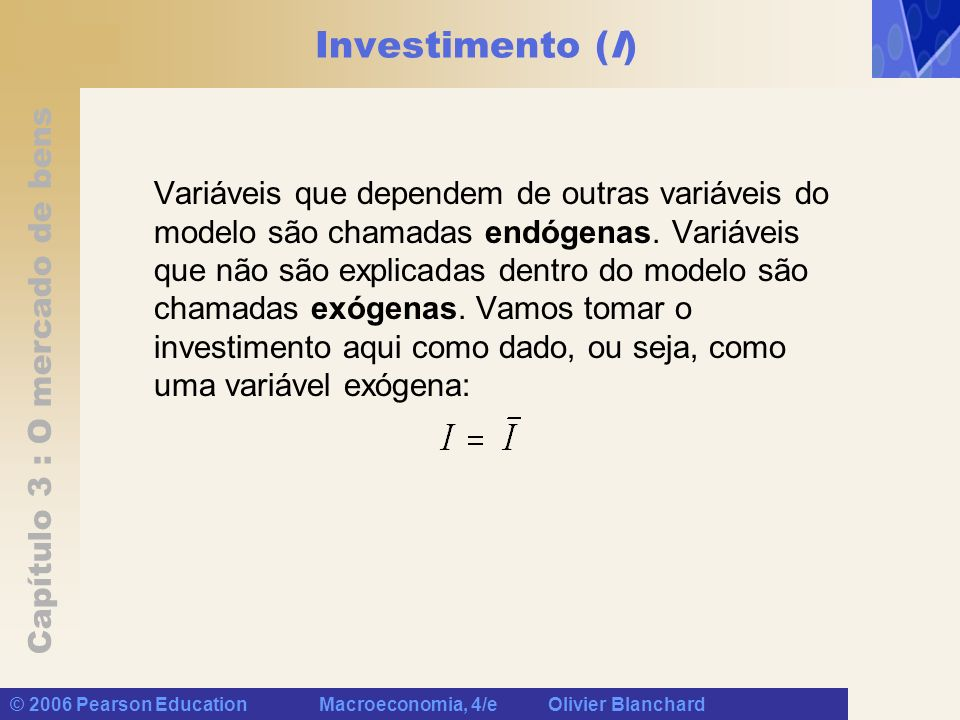 Investimento (I)