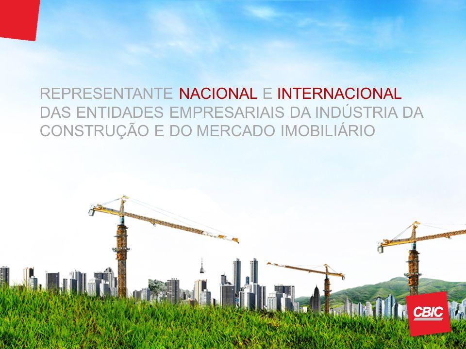 REPRESENTANTE NACIONAL E INTERNACIONAL DAS ENTIDADES EMPRESARIAIS DA INDÚSTRIA DA CONSTRUÇÃO E DO MERCADO IMOBILIÁRIO