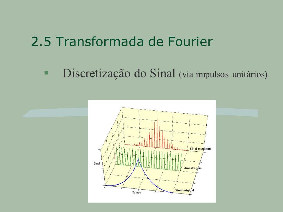 2.5 Transformada de Fourier