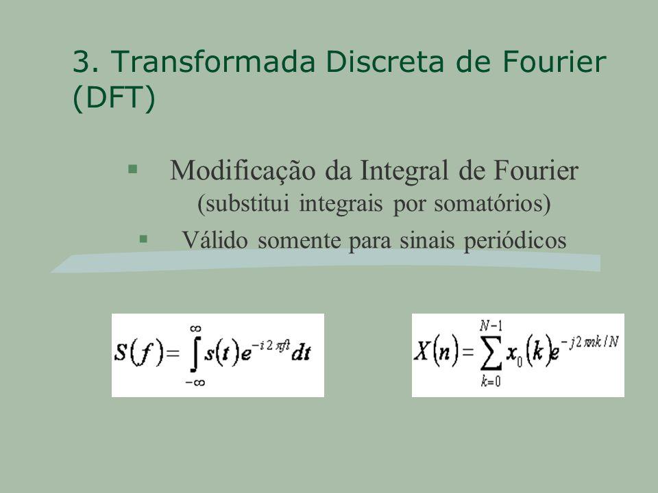 3. Transformada Discreta de Fourier (DFT)