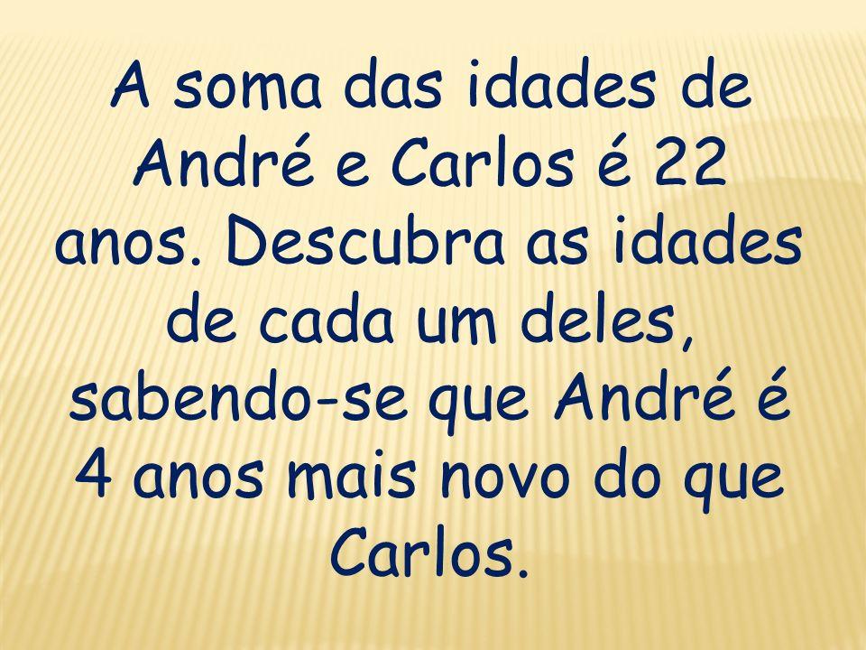 A soma das idades de André e Carlos é 22 anos