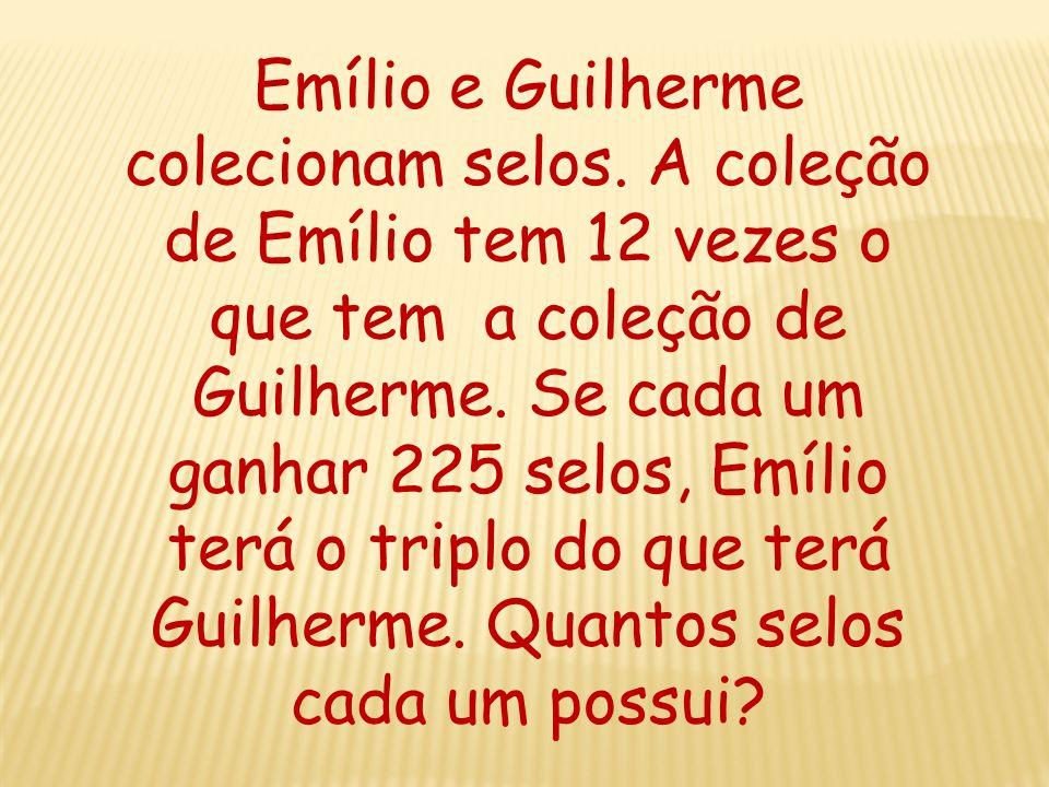 Emílio e Guilherme colecionam selos