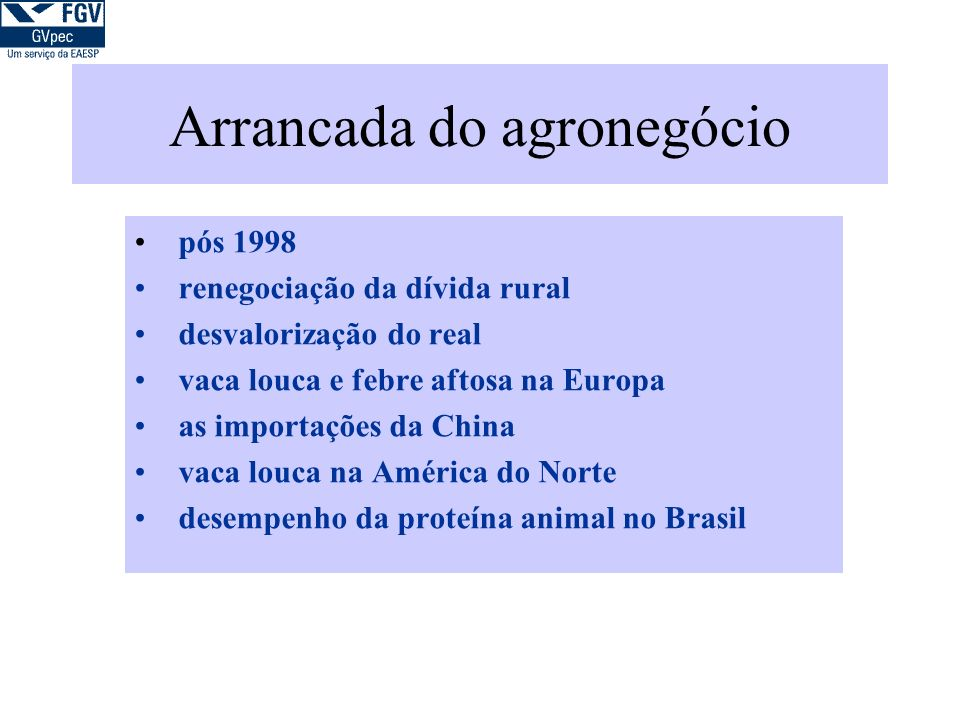 Arrancada do agronegócio