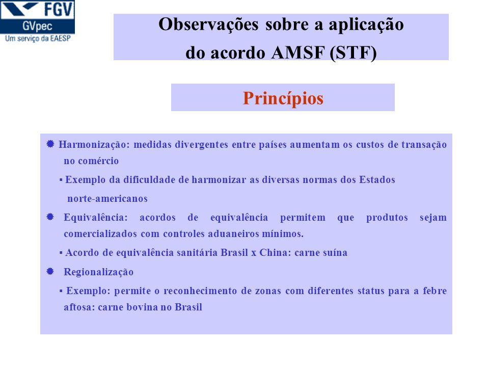 Observações sobre a aplicação do acordo AMSF (STF)