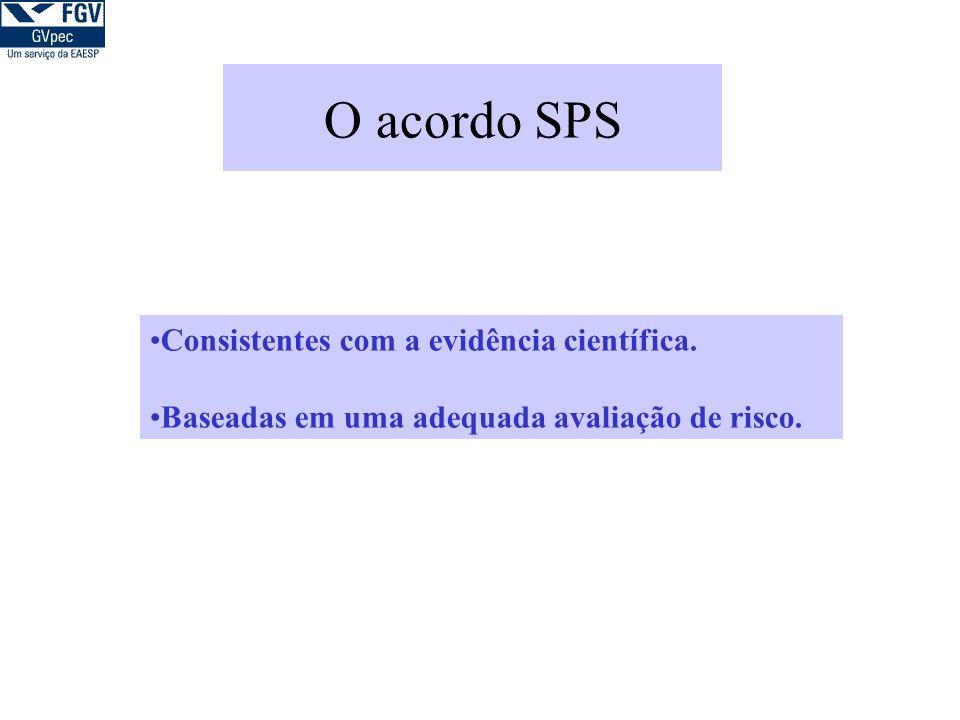 O acordo SPS Consistentes com a evidência científica.