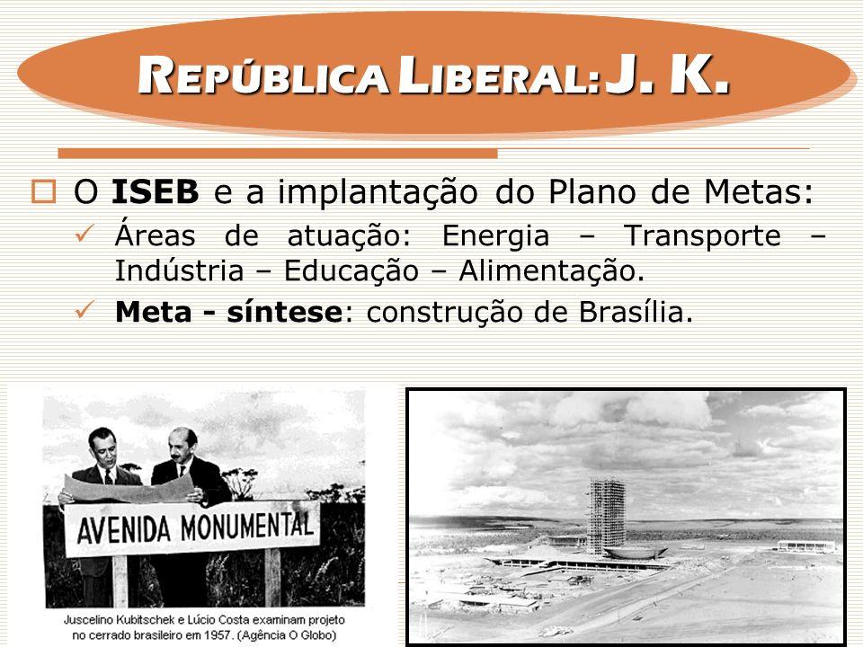 REPÚBLICA LIBERAL: J. K. O ISEB e a implantação do Plano de Metas: