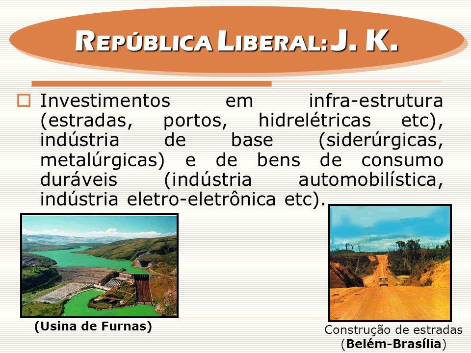 Construção de estradas (Belém-Brasília)