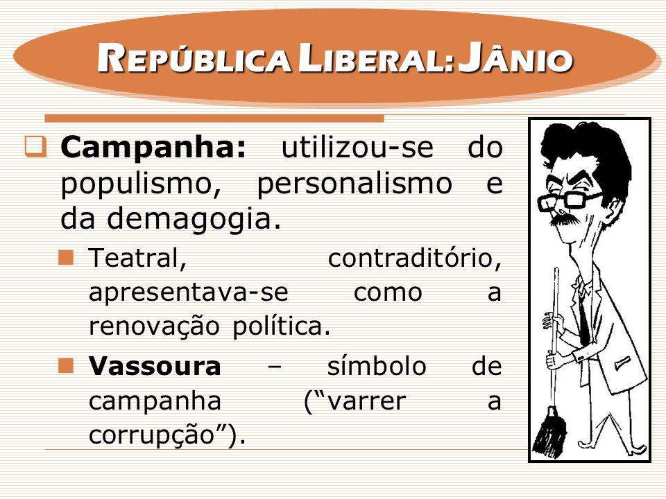 REPÚBLICA LIBERAL: JÂNIO