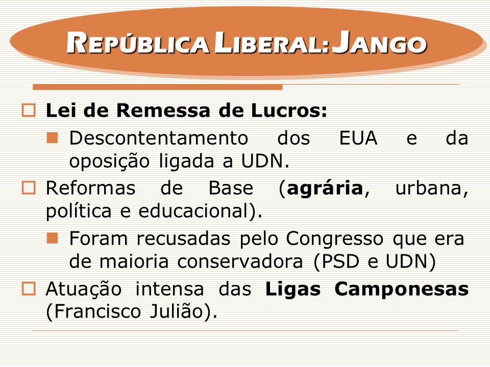 REPÚBLICA LIBERAL: JANGO
