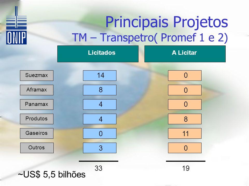 Principais Projetos TM – Transpetro( Promef 1 e 2)