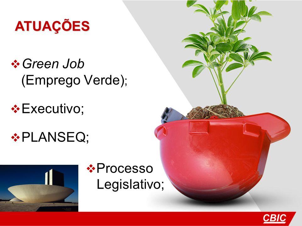 ATUAÇÕES Green Job (Emprego Verde); Executivo; PLANSEQ; Processo Legislativo;
