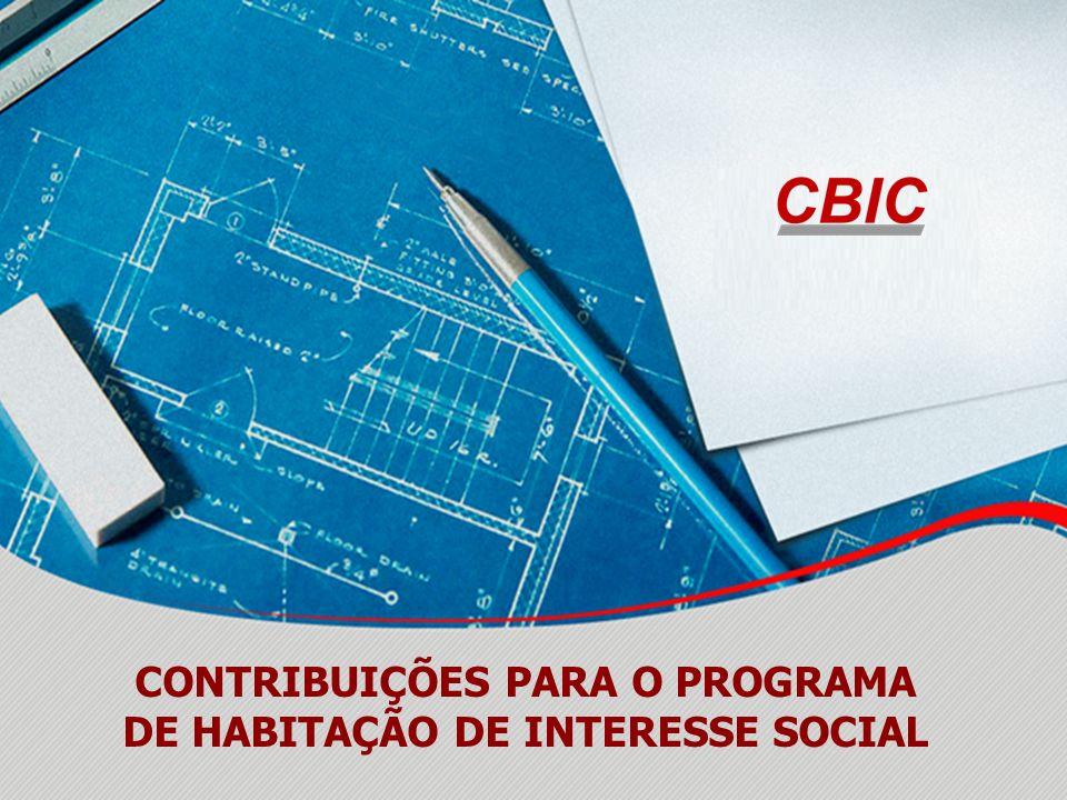 CONTRIBUIÇÕES PARA O PROGRAMA DE HABITAÇÃO DE INTERESSE SOCIAL