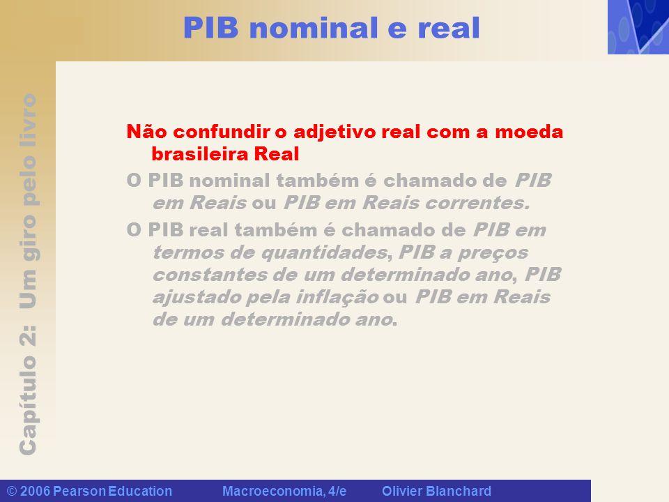 PIB nominal e real Não confundir o adjetivo real com a moeda brasileira Real.
