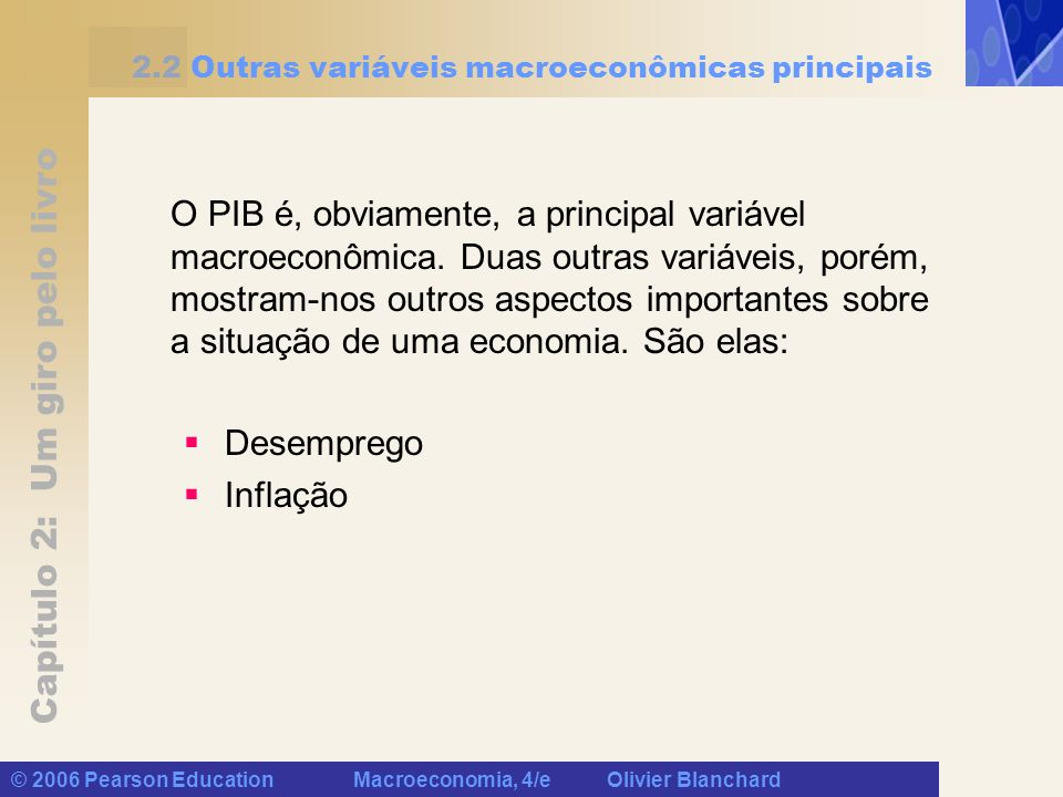 2.2 Outras variáveis macroeconômicas principais