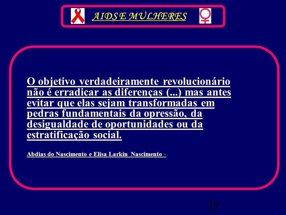 AIDS E MULHERES
