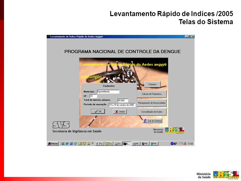 Levantamento Rápido de Indices /2005