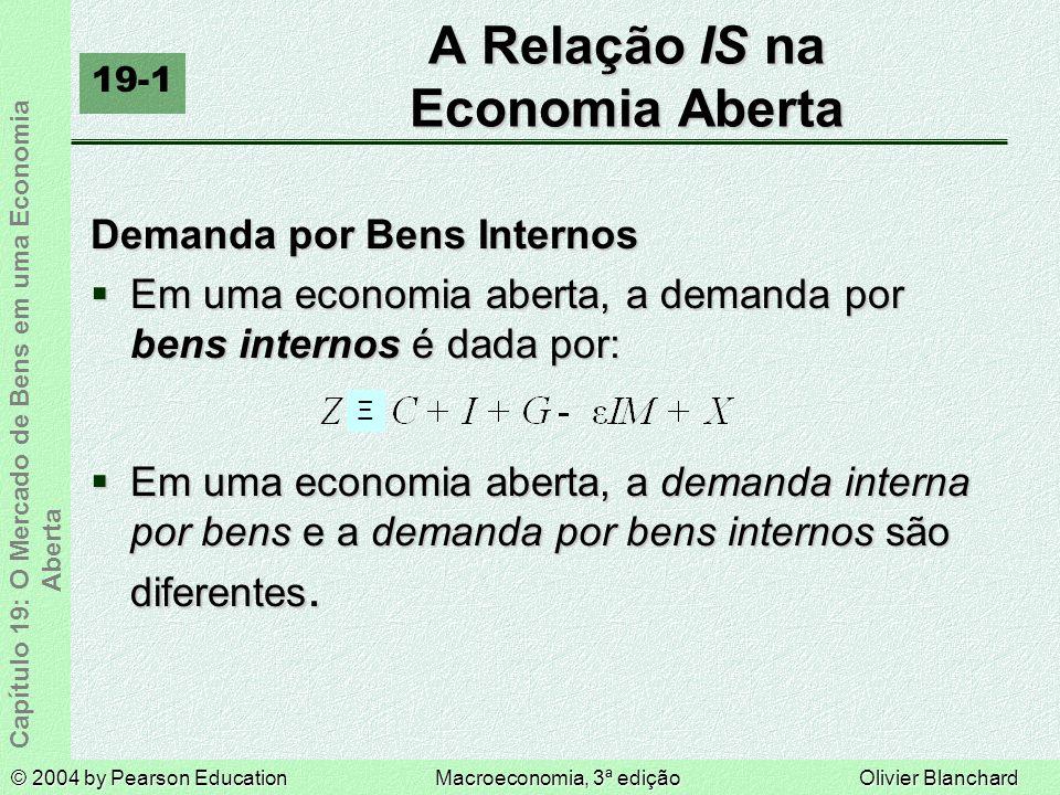 A Relação IS na Economia Aberta