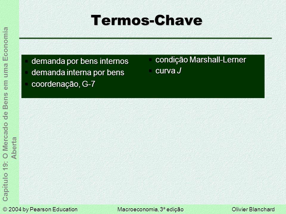 Termos-Chave demanda por bens internos demanda interna por bens