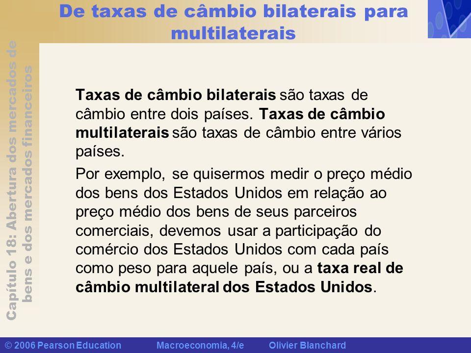 De taxas de câmbio bilaterais para multilaterais