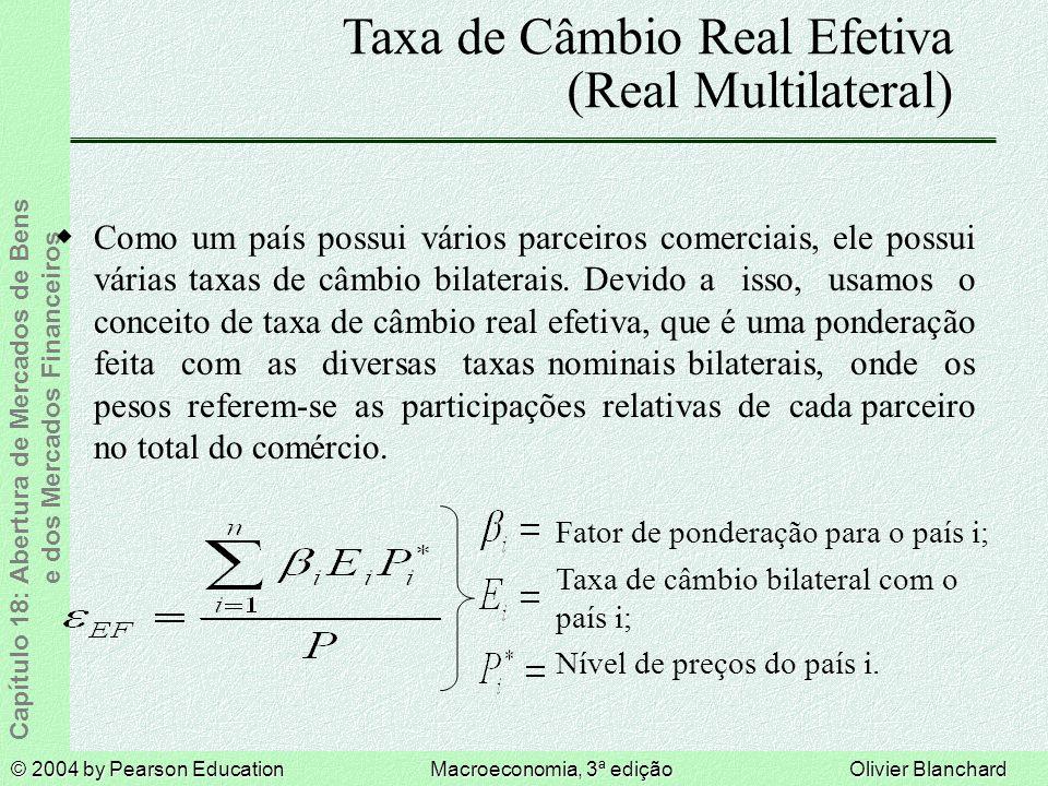 Taxa de Câmbio Real Efetiva (Real Multilateral)
