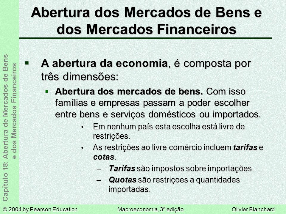 Abertura dos Mercados de Bens e dos Mercados Financeiros