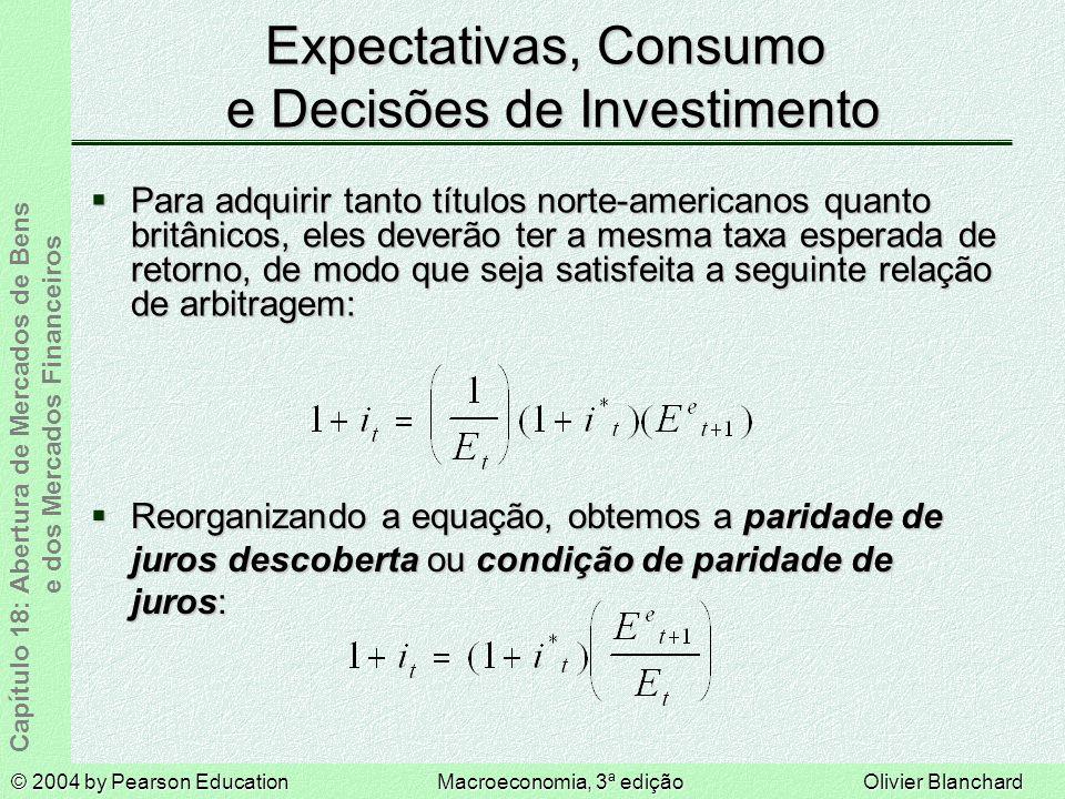 Expectativas, Consumo e Decisões de Investimento
