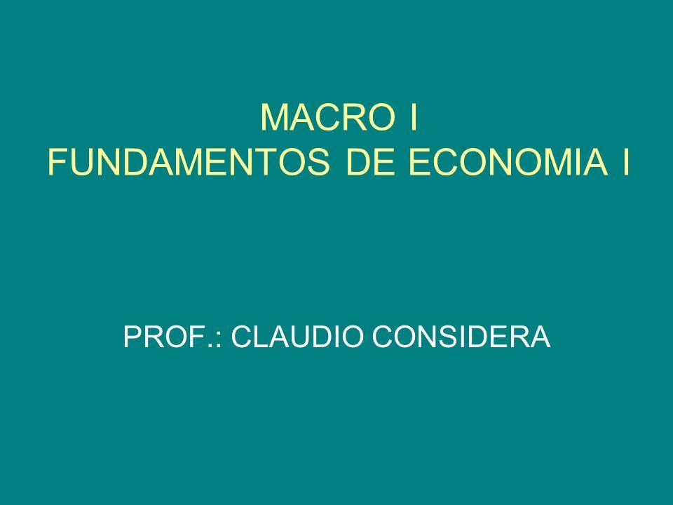MACRO I FUNDAMENTOS DE ECONOMIA I
