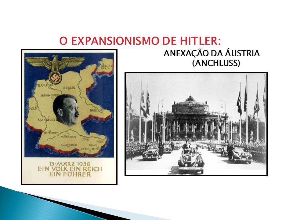 O EXPANSIONISMO DE HITLER: ANEXAÇÃO DA ÁUSTRIA (ANCHLUSS)