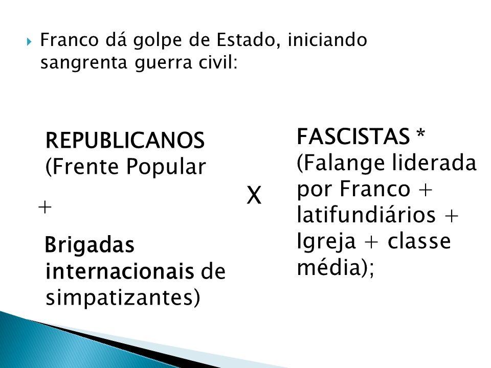 X + Brigadas internacionais de simpatizantes)