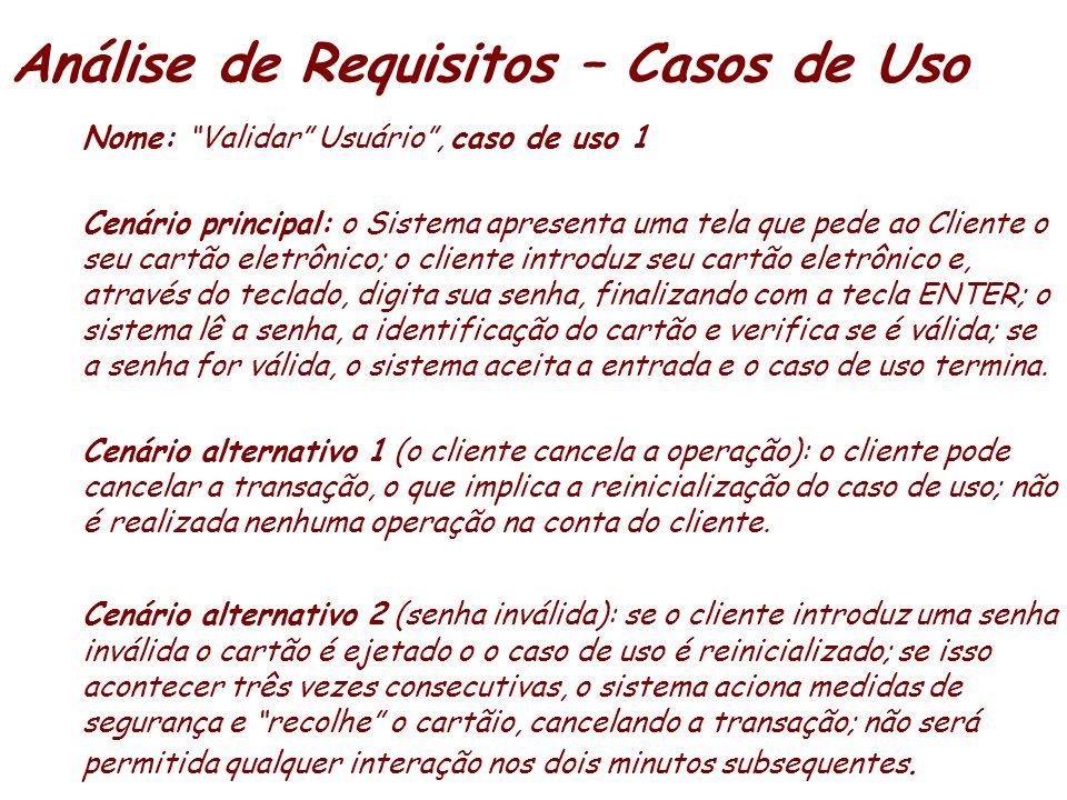 Análise de Requisitos – Casos de Uso