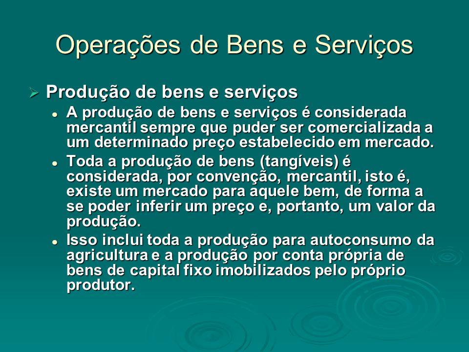 Operações de Bens e Serviços