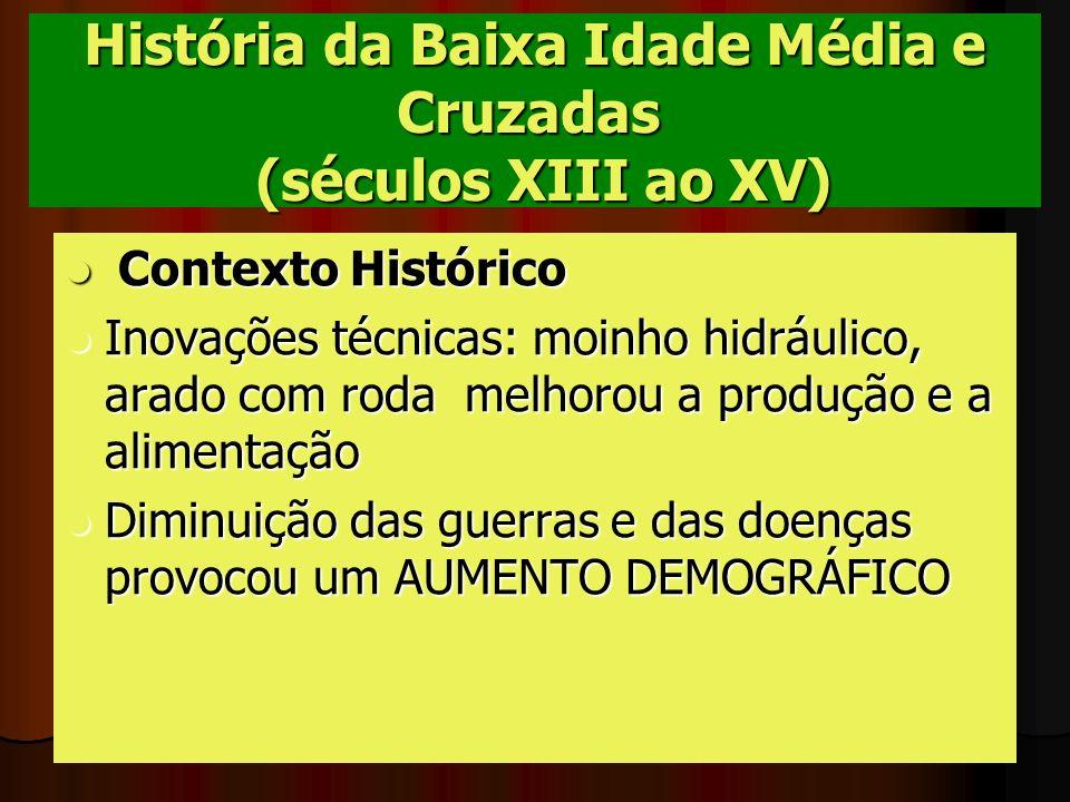 História da Baixa Idade Média e Cruzadas (séculos XIII ao XV)