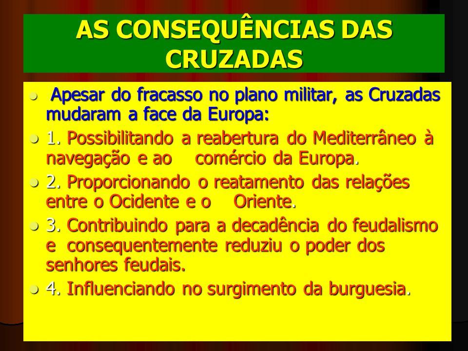 AS CONSEQUÊNCIAS DAS CRUZADAS