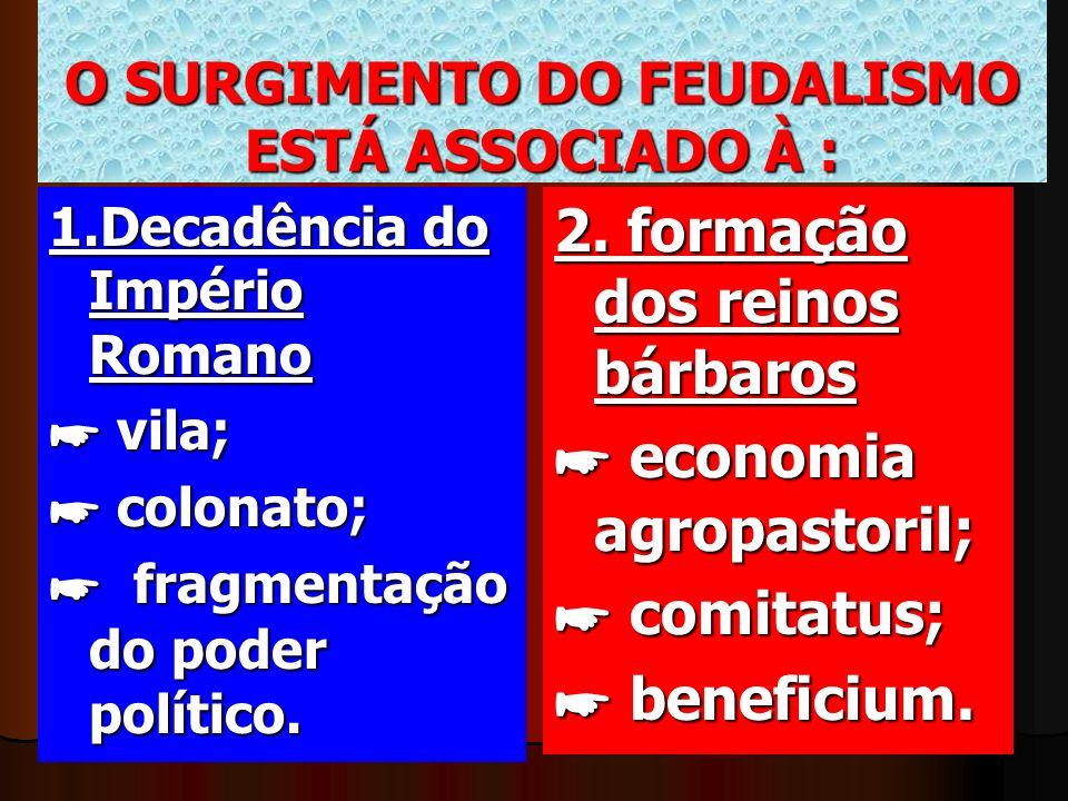 O SURGIMENTO DO FEUDALISMO ESTÁ ASSOCIADO À :